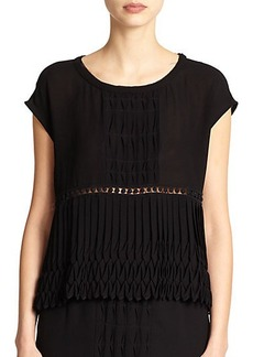 Nanette Lepore Bazaar Pleated Blouse