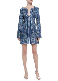 Nanette Lepore Bell-Sleeve Paisley-Print Dress  Bell-Sleeve Paisley-Print Dress