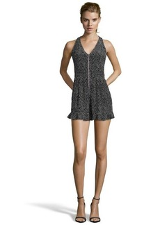 Nanette Lepore black and white silk polka dot 'Flirty' romper