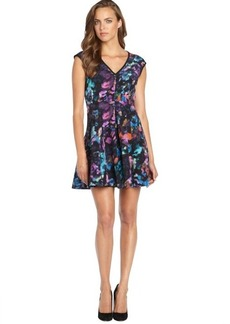 Nanette Lepore black floral print 'Wonderland' v-neck dress
