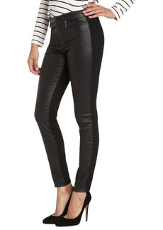 Nanette Lepore black leather front skinny 'Longboard' pant