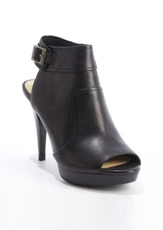 Nanette Lepore black leather peep toe heel booties