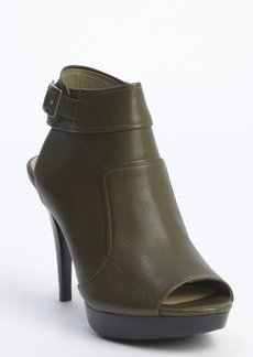 Nanette Lepore black leather peep toe heel booties