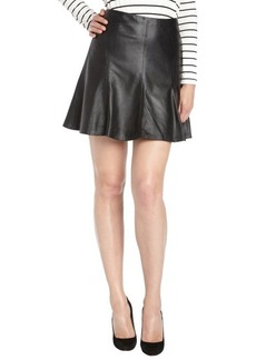 Nanette Lepore black leather slick back skirt
