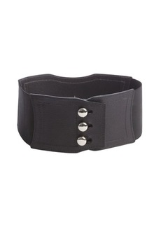 Nanette Lepore black slide button front stretchy belt