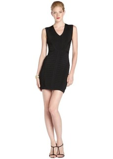 Nanette Lepore black stretch 'Amulet' sleeveless v-neck banded dress