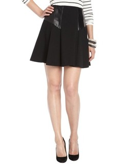 Nanette Lepore black stretch leather accent 'Coyote' skirt