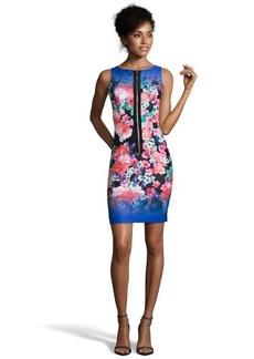 Nanette Lepore blue floral print 'Venice Beach' zip front dress