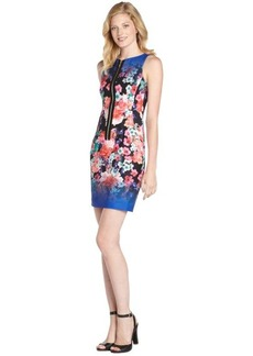Nanette Lepore blue floral print 'Venice Beach' zip front dress