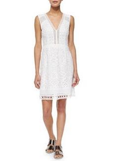 Nanette Lepore Breezy V-Neck Lace Sheath Dress