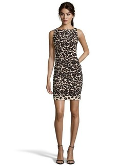 Nanette Lepore brown and tan stretch leopard sheath dress