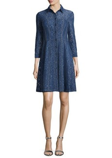 Nanette Lepore Button-Front Lace Shirtdress  Button-Front Lace Shirtdress