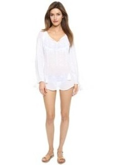 Nanette Lepore Calcutta Peasant Tunic with Embroidery