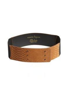 Nanette Lepore camel snake embossed stretch belt
