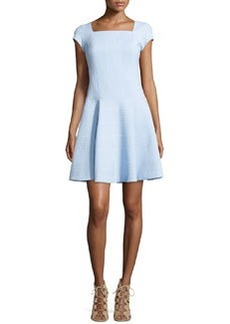 Nanette Lepore Cap-Sleeve Fit-and-Flare Dress