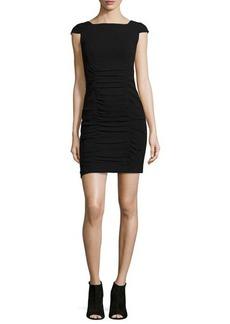 Nanette Lepore Cap-Sleeve Ruched Sheath Dress