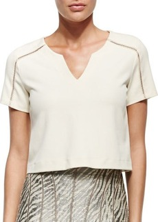 Nanette Lepore Cape Town Tee W/ Stitch Detail