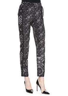 Nanette Lepore Cristallo Printed Silk Pants