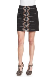 Nanette Lepore Cross Town Embroidered Miniskirt  Cross Town Embroidered Miniskirt