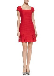 Nanette Lepore Dedicate Ribbed Knit Drop-Skirt Dress