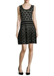 Nanette Lepore Diamond Dazzle Sleeveless Dress