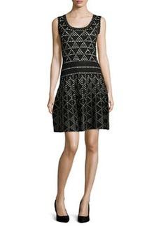 Nanette Lepore Diamond Dazzle Sleeveless Dress