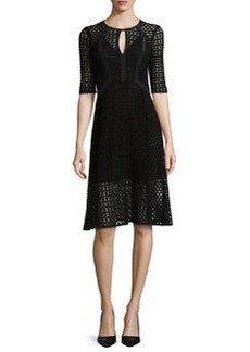 Nanette Lepore Drumbeat Crocheted Lace Dress