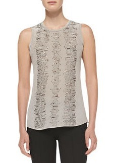 Nanette Lepore Entertainer Sequined-Front Tank