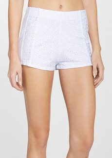 Nanette Lepore Eyelet Cover-Up Shorts