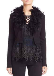 Nanette Lepore Feather Cardigan