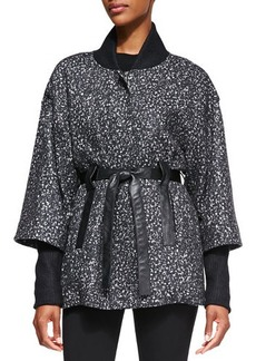 Nanette Lepore Felted Marble Cotton/Wool Poncho