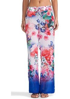 Nanette Lepore Fleur de la Mer Beach Pants in Blue