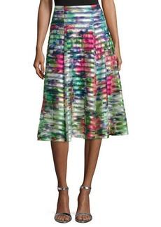 Nanette Lepore Floral-Print Striped A-line Skirt  Floral-Print Striped A-line Skirt