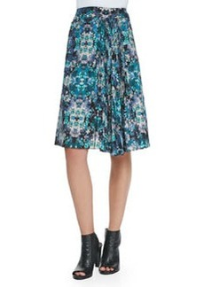 Nanette Lepore Foul Play Pleated Floral-Print Skirt