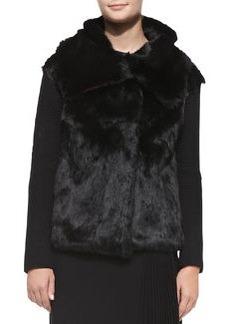 Nanette Lepore Fur & Ribbed-Knit Jacket