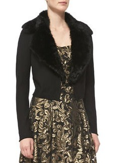 Nanette Lepore Glam Fur-Trim Cardigan