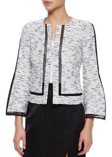 Nanette Lepore Graphic Tweed Jacket