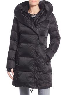 Nanette Lepore Hooded Asymmetrical Zip Down Coat