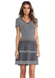 Nanette Lepore Illusion Dress in Black & White