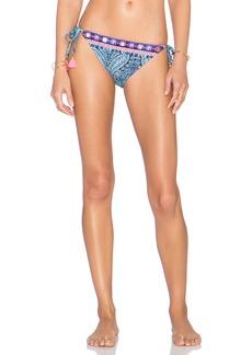 Nanette Lepore Indigo Paisley Vamp Bikini Bottom