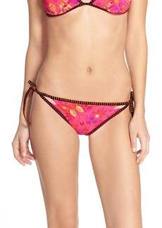 Nanette Lepore 'Jakarta Vamp' Tie Side Bikini Bottoms