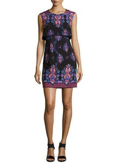 Nanette Lepore Jodhpur Sleeveless Printed Mini Dress  Jodhpur Sleeveless Printed Mini Dress