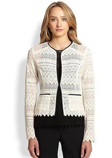 Nanette Lepore Journey Lace Cardigan Jacket