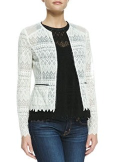 Nanette Lepore Journey Lace Contrast-Hem Jacket