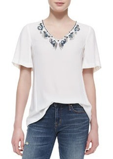 Nanette Lepore Jungle Gem Bead-Neck Top