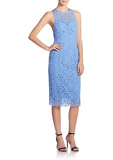 Nanette Lepore Lace Open-Back Sheath