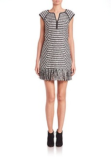 Nanette Lepore Lawless Fringed-Hem Dress