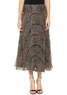 Nanette Lepore Long Pleated Skirt