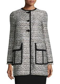 Nanette Lepore Long-Sleeve Button-Front Topper Coat