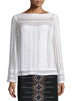 Nanette Lepore Long-Sleeve Embroidered Peasant Top  Long-Sleeve Embroidered Peasant Top